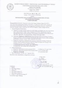 Semester Pendek Genap 20152016