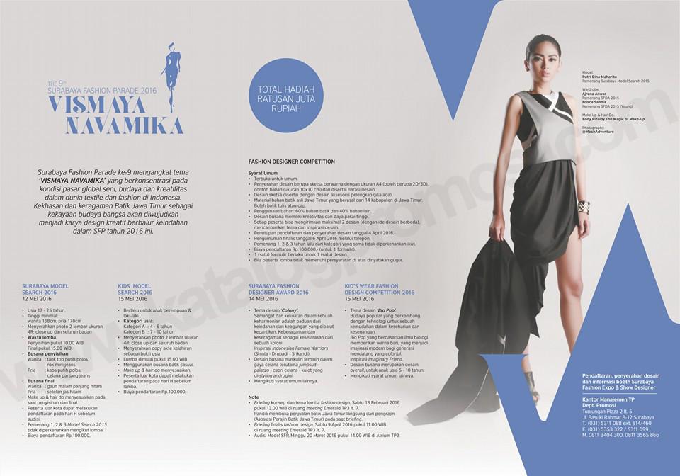 The 9th Surabaya Fashion Parade 2016 Vismaya Navamika Jurusan Teknologi Industri