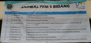 JADWAL PKM 5 BIDANG UM TAHUN 2017