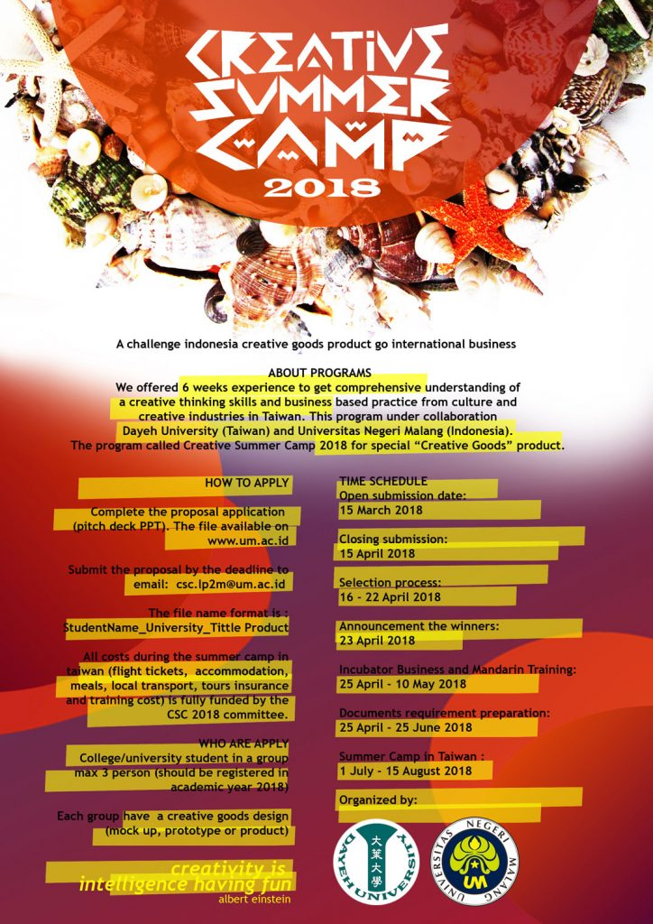 Creative Summer Camp 2018