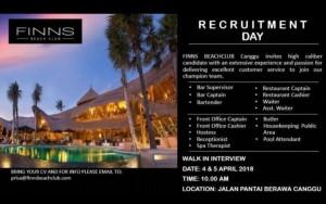 Lowongan Pekerjaan Finns Beach Club Bali