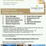 Lowongan Pekerjaan Golden Tulip Bali