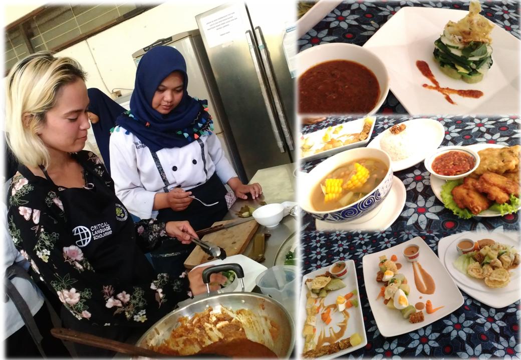 Mahasiswa Asing Belajar Masakan Jawa dengan Mahasiswa Tata Boga UM